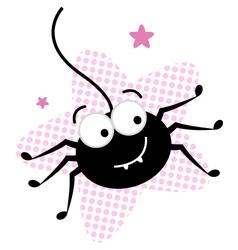 crazy black spider vector image vector image