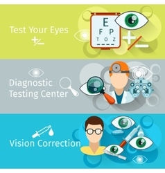 Oculist and optometry horizontal banners vector image vector image