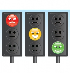 traffic light smiley vector image vector image