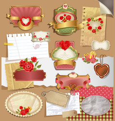 labels for valentines day vector image vector image