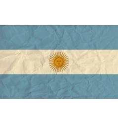 Argentina paper flag vector image