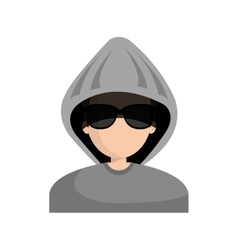 hacker character avatar icon vector image vector image