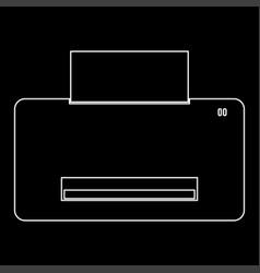 printer the white path icon vector image vector image
