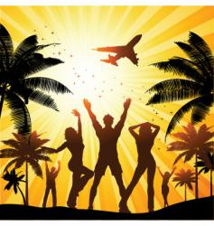 summer party people vector image vector image