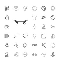 33 leisure icons vector