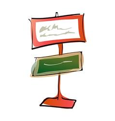 A sign post vector