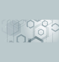 abstract geometric background with gexagon shapes vector image