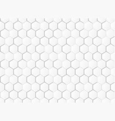 abstract gradient white and gray hexagonal vector image