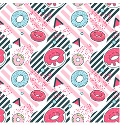 Abstract memphis geometric shapes seamless pattern vector