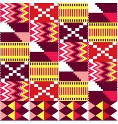 African kente nwentoma seamless pattern vector