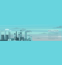 Air pollution flat banner template ecology vector
