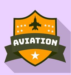 Aviation star logo flat style vector
