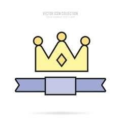 Awards icons isolated with shadow vector image