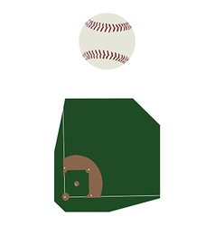 Baseball ball and fiels vector image