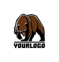 Bear logo sign pictograph vector