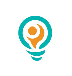 big think logo lightbulb logo icon vector image