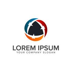 bird logo team logo design concept template vector image