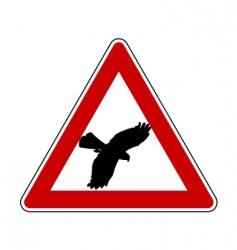 Bird swoop warning sign vector