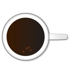 Black coffee mug vector