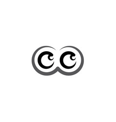 black eyes logo icon symbol design element vector image