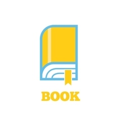 Book Logo Sign Design Flat vector