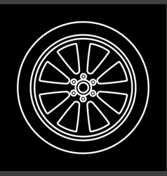 car wheel it is icon vector image