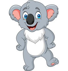 Cartoon little koala posing vector