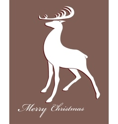 Christmas festive deer vector