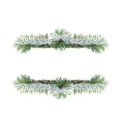 christmas wreath border vector image