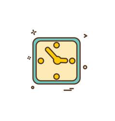 clock time icon design vector image