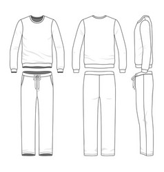 clothing set of sweat suit vector image