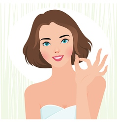 Concept fresh beautiful girl body care vector image