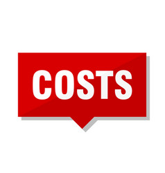 Costs red tag vector