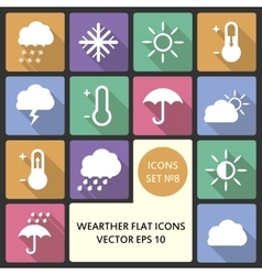 Creative concept Flat Icon Set of weather vector