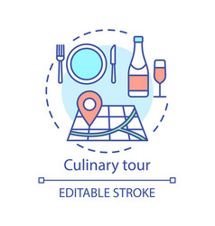 Culinary tour concept icon vector