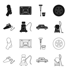 Design carwash and care icon set of vector
