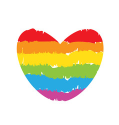 drawing lgbt rainbow heart sign vector image