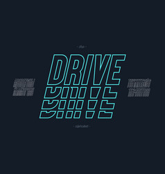 Drive font italic style vector