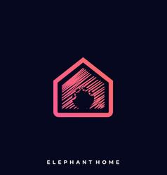 Elephant home template vector