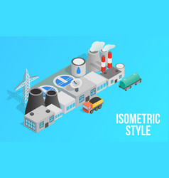 energy factory clip art isometric style vector image