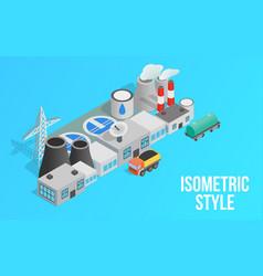 Energy factory clip art isometric style vector