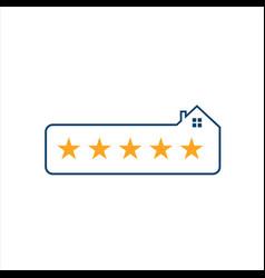 five stars home 5 star logo premium quality design vector image