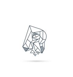 Gemstone letter r logo design icon template vector
