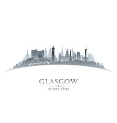 Glasgow Scotland city skyline silhouette vector image