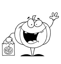 Halloween pumpkin cartoon vector