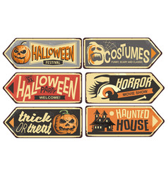 Halloween signs collection vector
