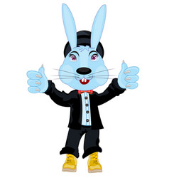 Hare in suit vector