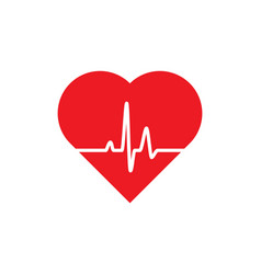 heart icon human health vector image