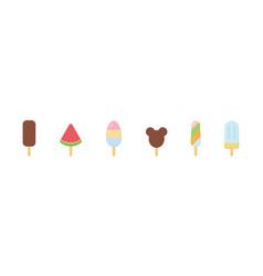 Ice cream icon set flat style vector