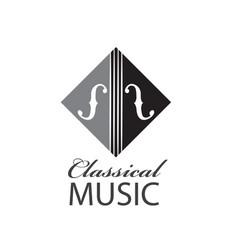 icon of violin vector image